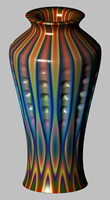 vase with pitted scallops